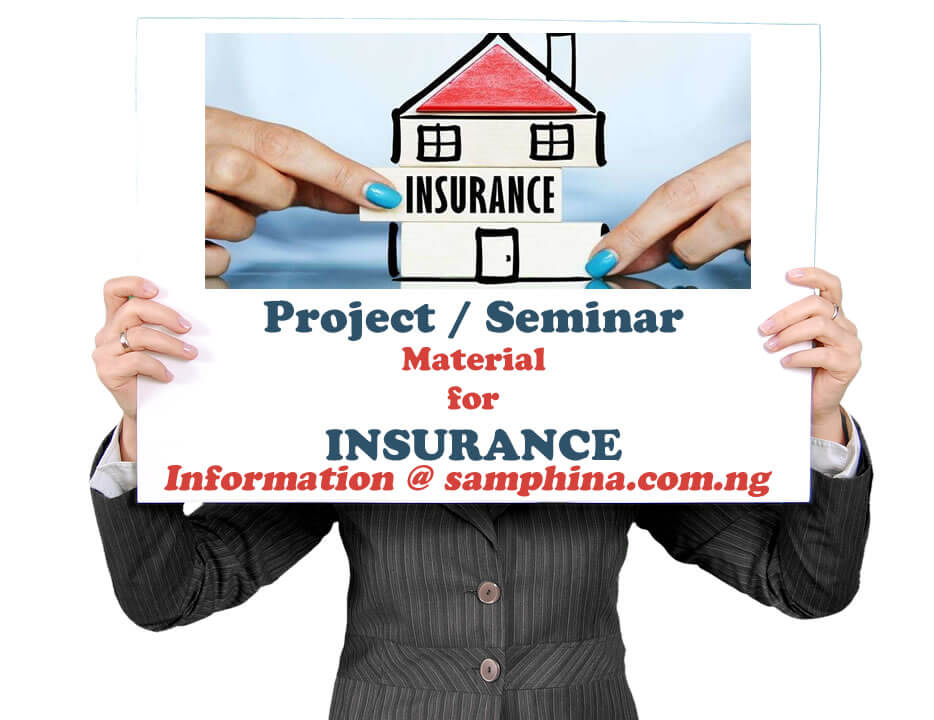 Project and Seminar Material for Insurance