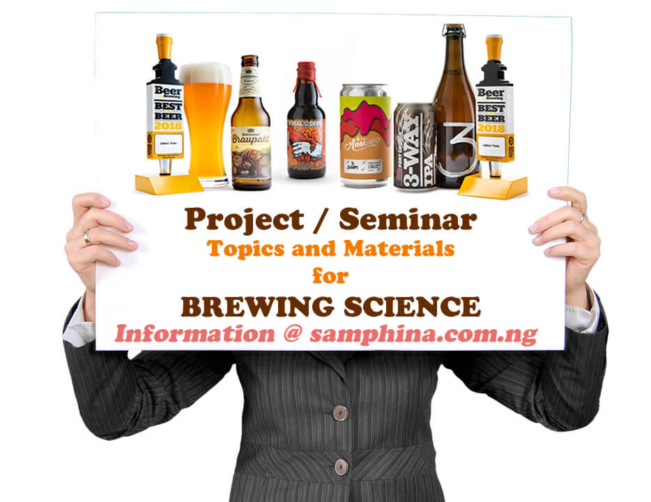 Project and Seminar Topics and Materials for Brewing Science