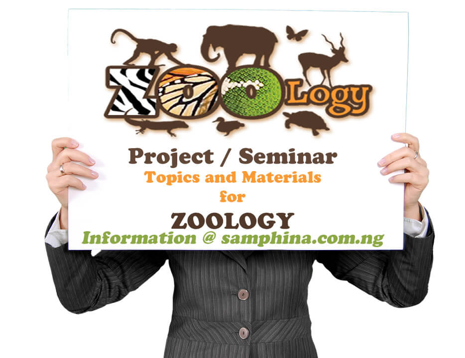 Project and Seminar Topics and Materials for Zoology