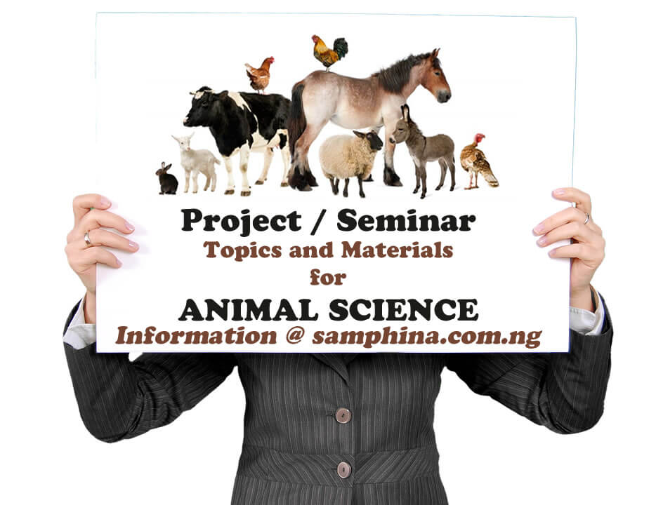 Project and Seminar Topics with Materials for Animal Science