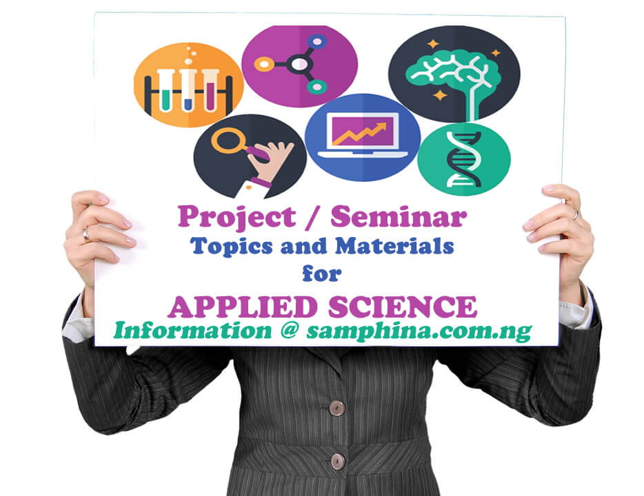 Project and Seminar Topics with Materials for Applied Science