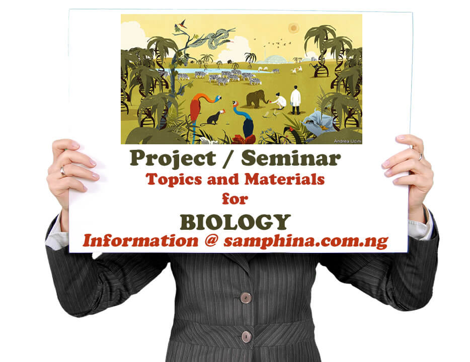 Project and Seminar Topics with Materials for Biology