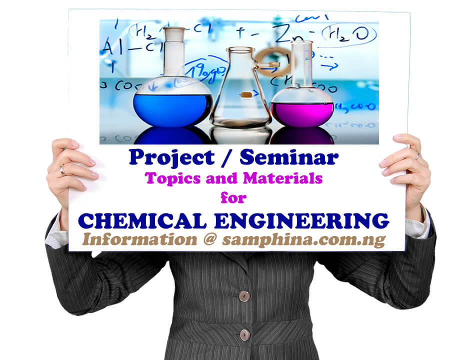 Project and Seminar Topics with Materials for Chemical Engineering