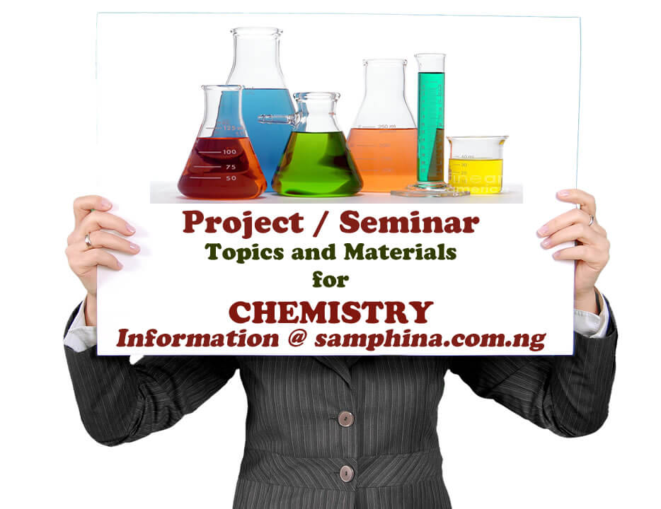 Project and Seminar Topics with Materials for Chemistry