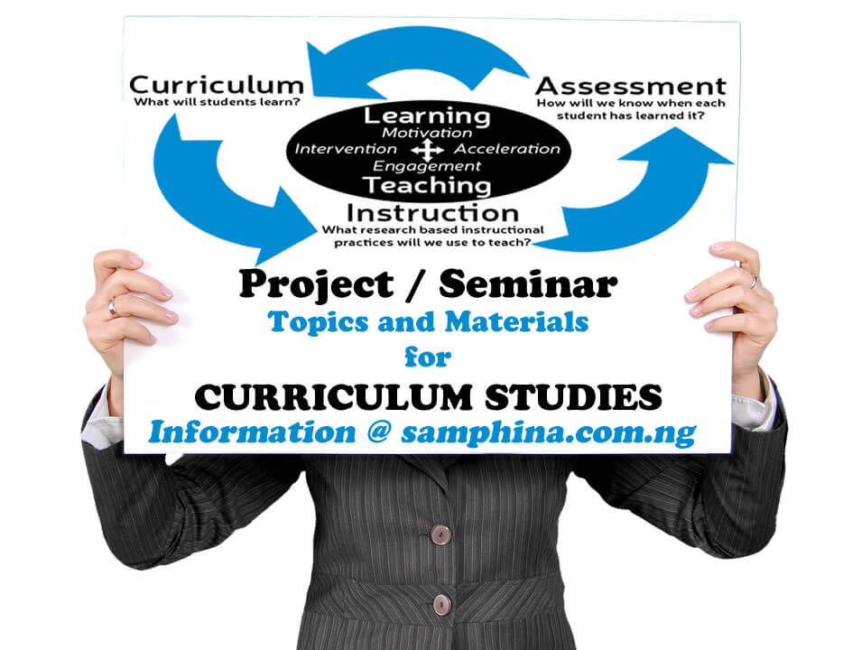 Project and Seminar Topics with Materials for Curriculum Studies
