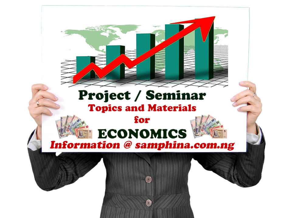 Project and Seminar Topics with Materials for Economics