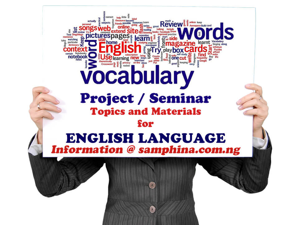 Project and Seminar Topics with Materials for English Language