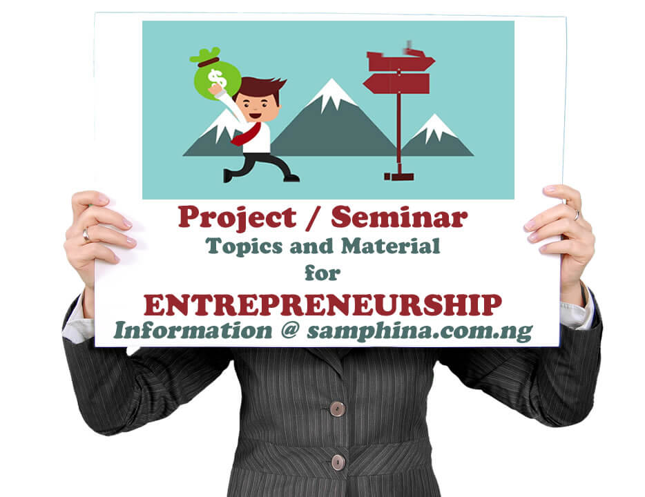 Project and Seminar Topics with Materials for Entrepreneurship