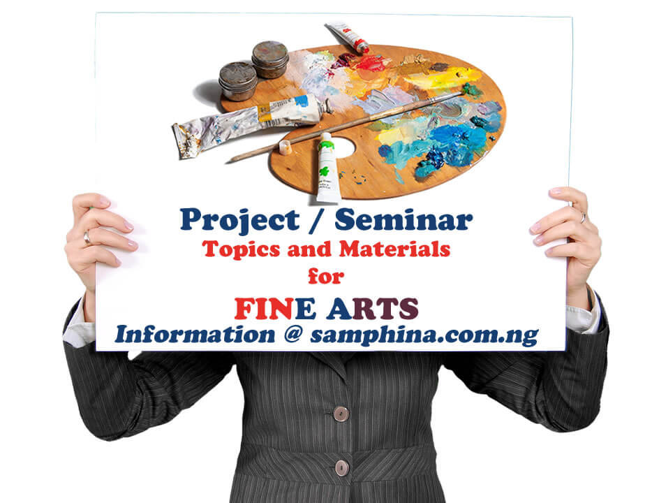 Project and Seminar Topics with Materials for Fine Arts