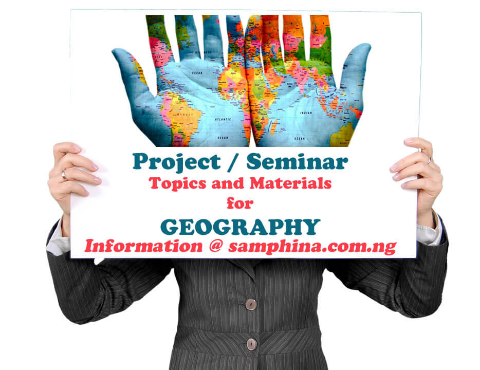 Project and Seminar Topics with Materials for Geography