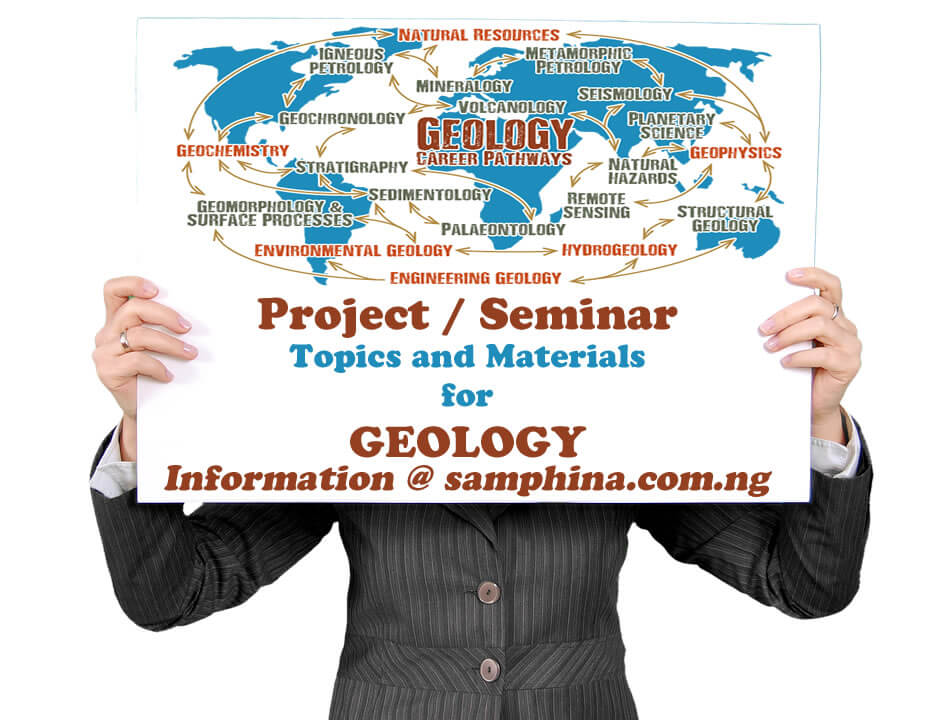 Project and Seminar Topics with Materials for Geology
