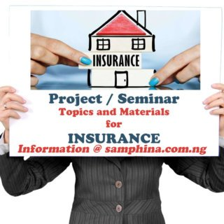 Project and Seminar Topics with Materials for Insurance