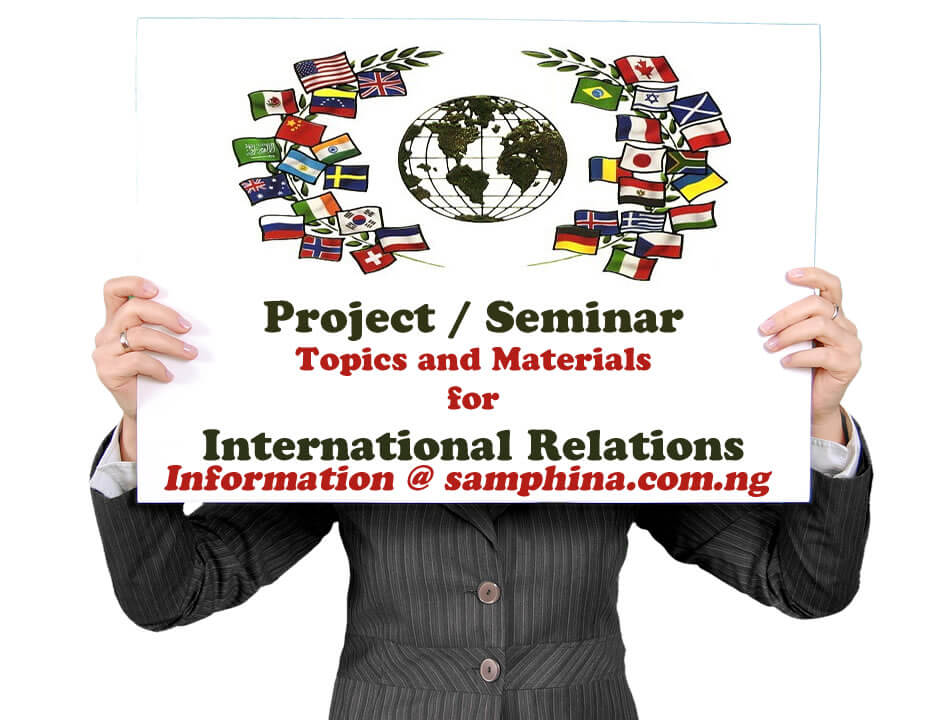 Project and Seminar Topics with Materials for International Relations
