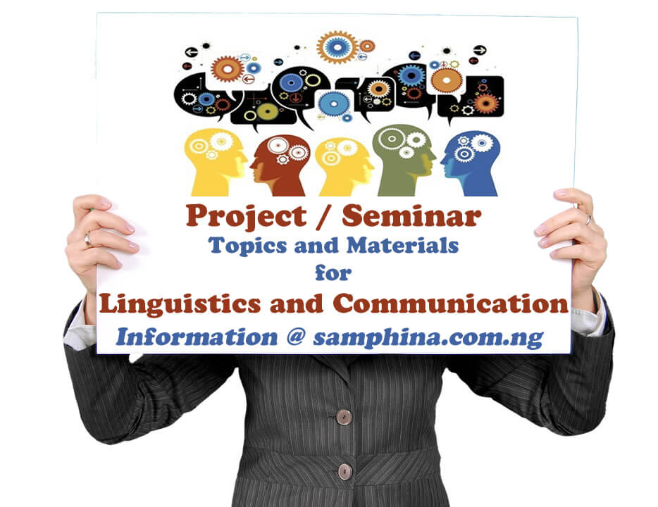 Project and Seminar Topics with Materials for Linguistics and Communication