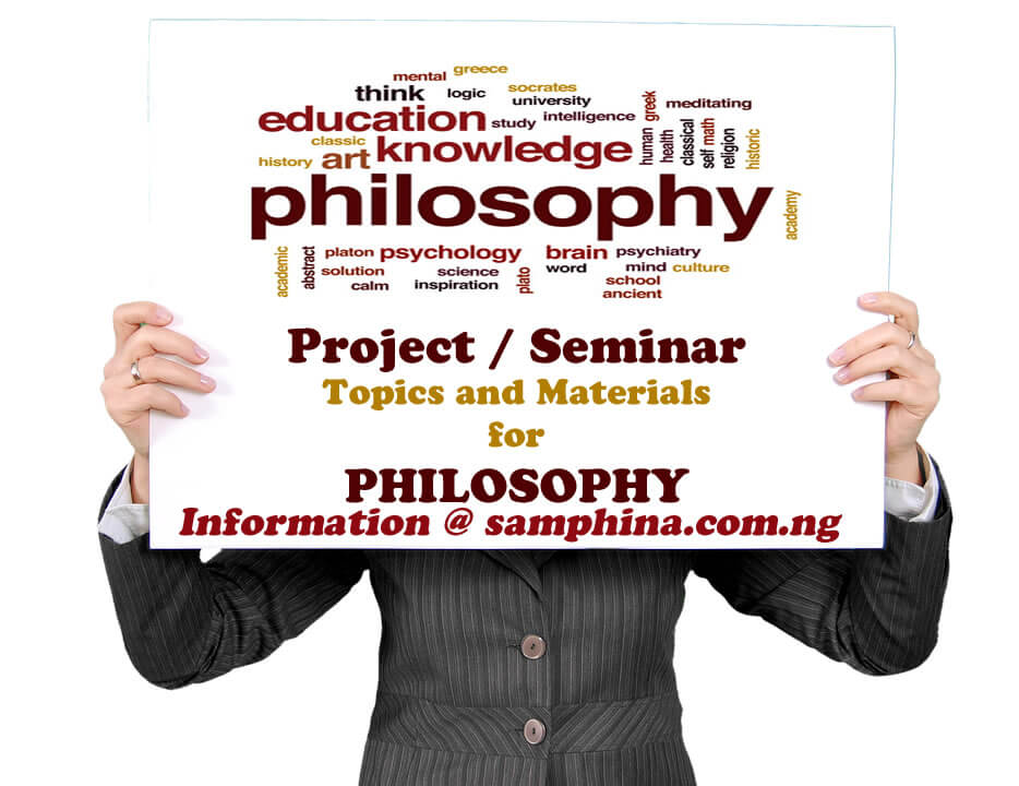 Project and Seminar Topics with Materials for Philosophy