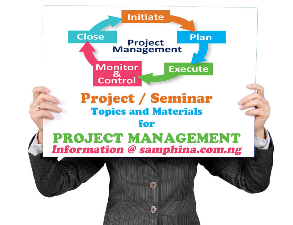 Project and Seminar Topics with Materials for Project Management