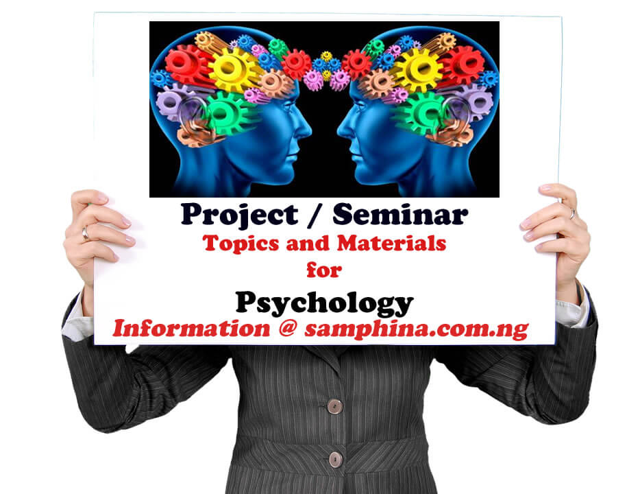 Project and Seminar Topics with Materials for Psychology