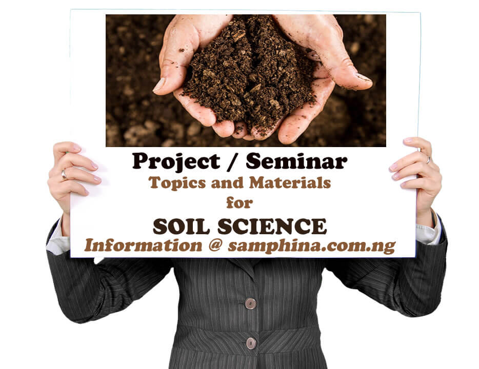 Project and Seminar Topics with Materials for Soil Science