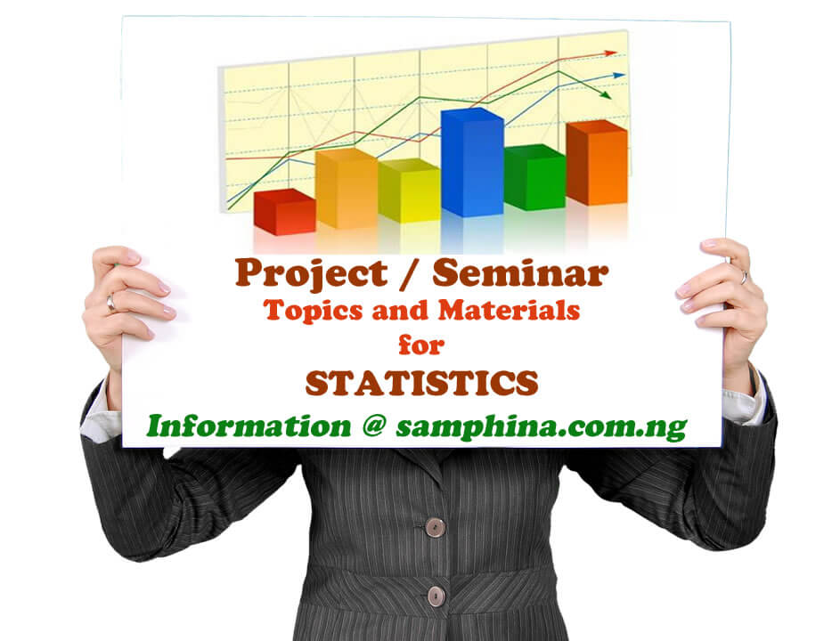 Project and Seminar Topics with Materials for Statistics