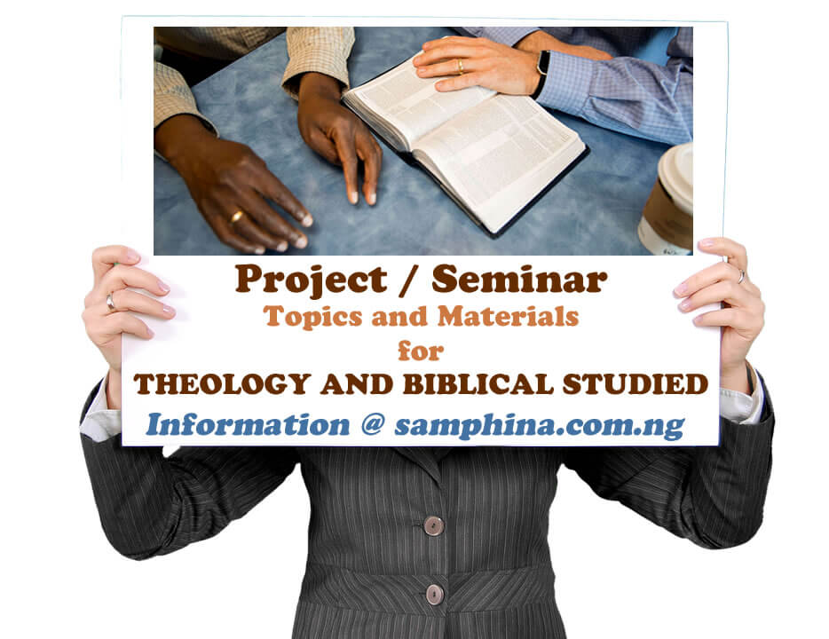 Project and Seminar Topics with Materials for Theology and Blblical Studies