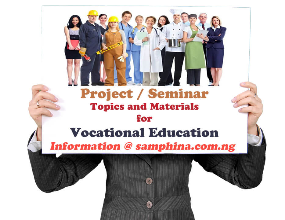Project and Seminar Topics with Materials for Vocational Education