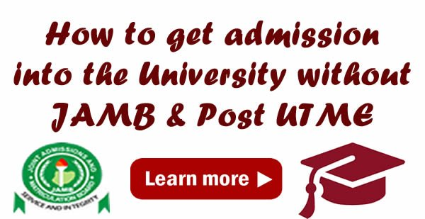 Admission Without JAMB - Mobile