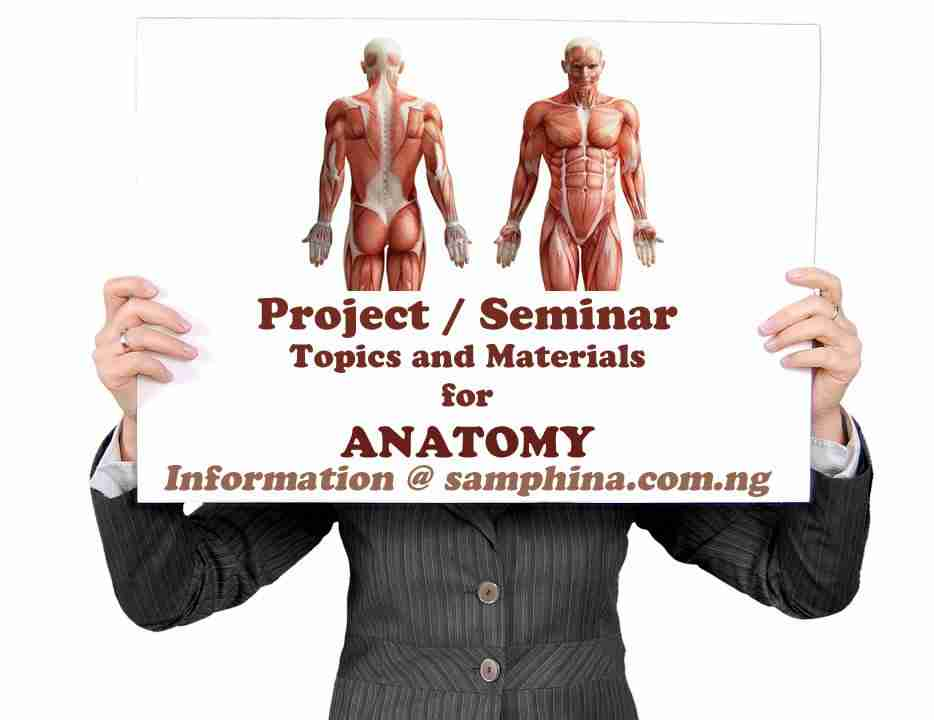 Anatomy Project and Seminar Topics with Materials