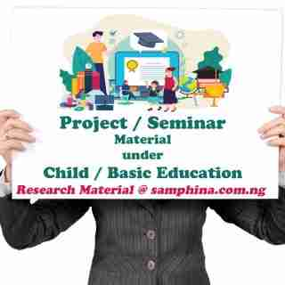 Project and Seminar Material for Child and Basic Education