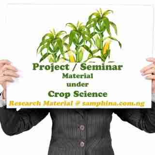 Project and Seminar Material for Crop Science