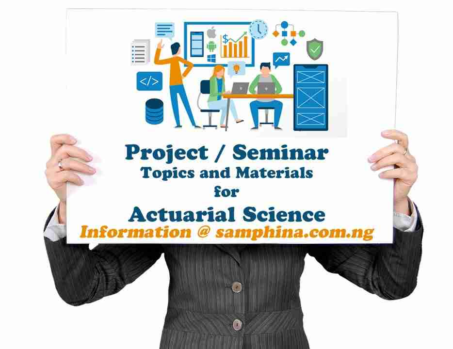 Project and Seminar Topics with Materials for Actuarial Science