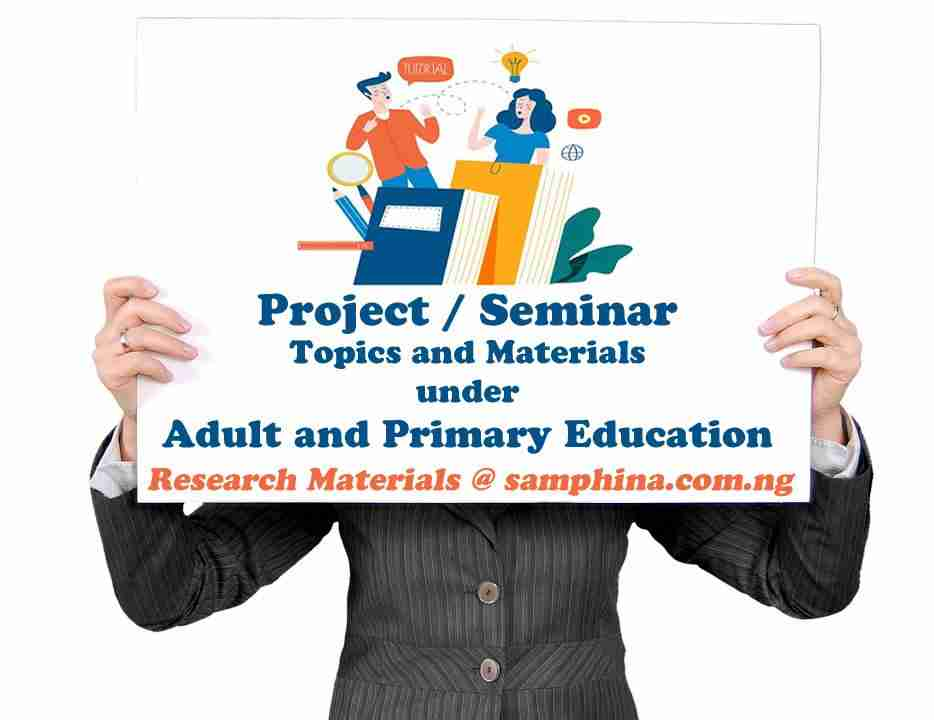 Project and Seminar Topics with Materials for Adult and Primary Education