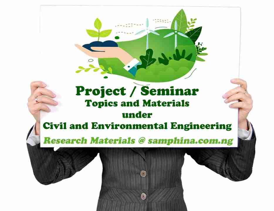 Project and Seminar Topics with Materials for Civil and Environmental Engineering
