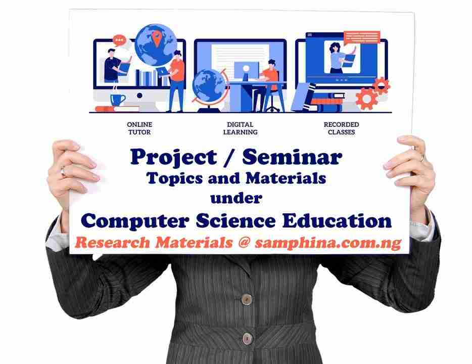 Project and Seminar Topics with Materials for Computer Science Education