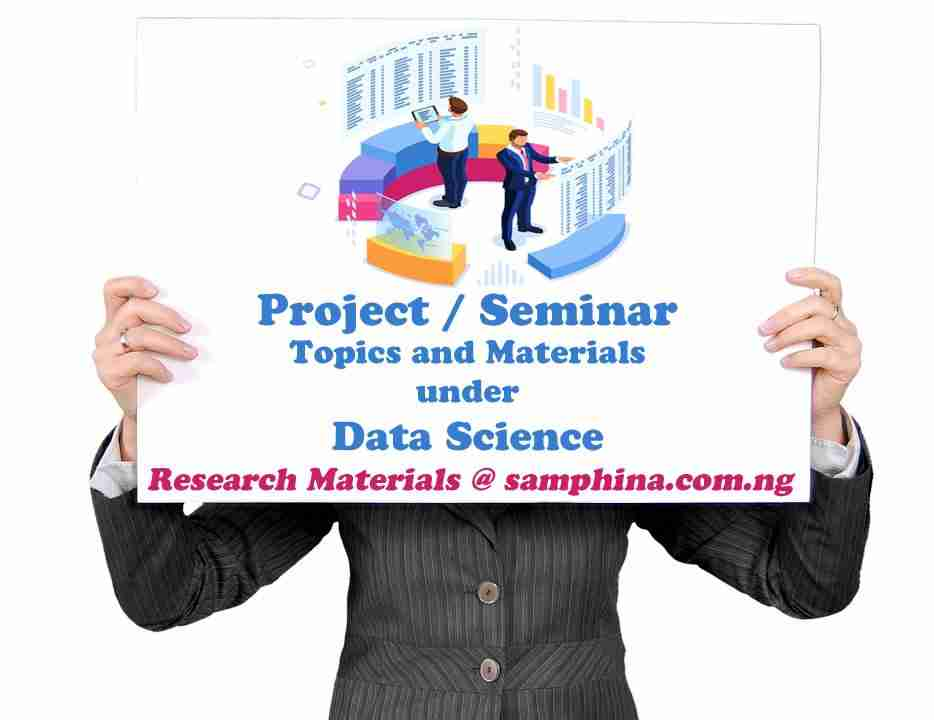 Project and Seminar Topics with Materials for Data Science