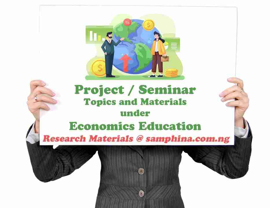 Project and Seminar Topics with Materials for Economics Education