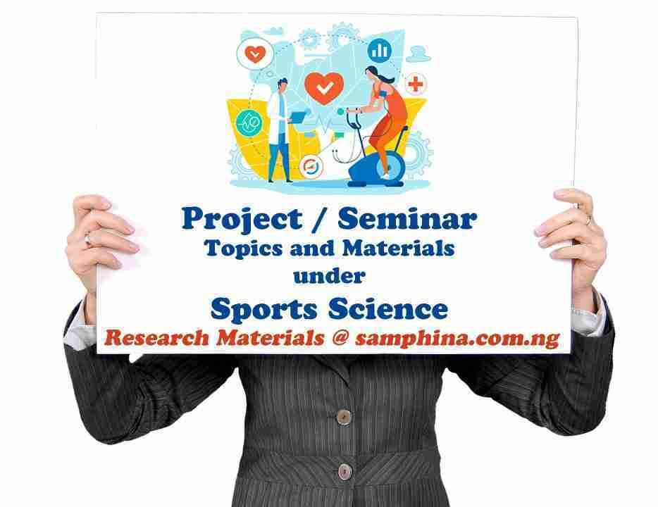 Project and Seminar Topics with Materials Under Sports Science